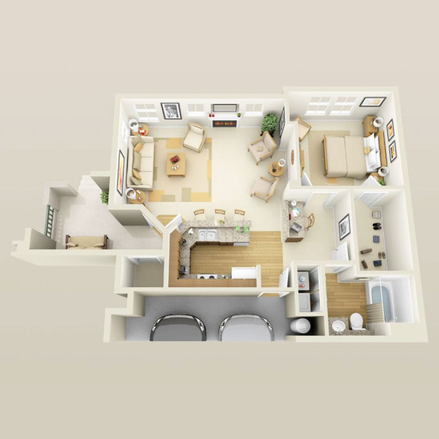 Click here to browse all available 1 bedroom units at Tesora.