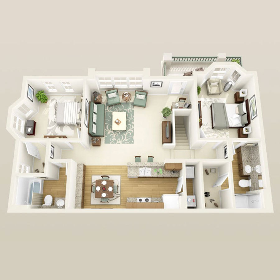 Click here to browse all available 2 bedroom units at Tesora.