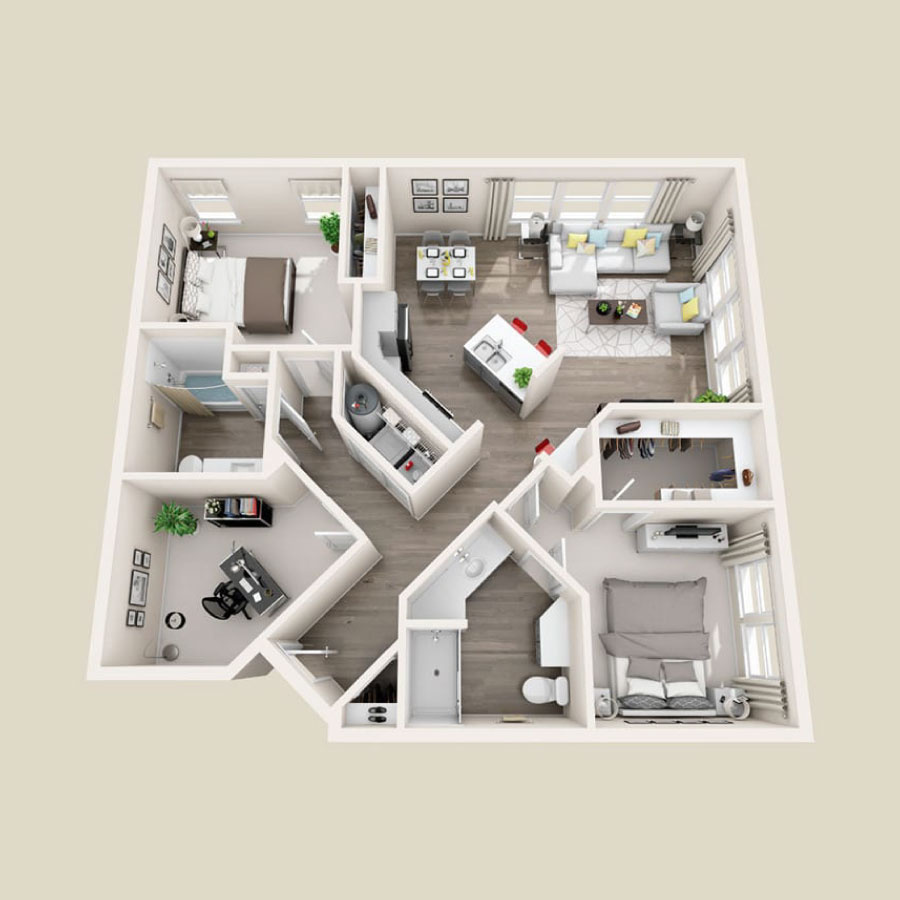 Click here to browse all available 2 bedroom units at Elevate.