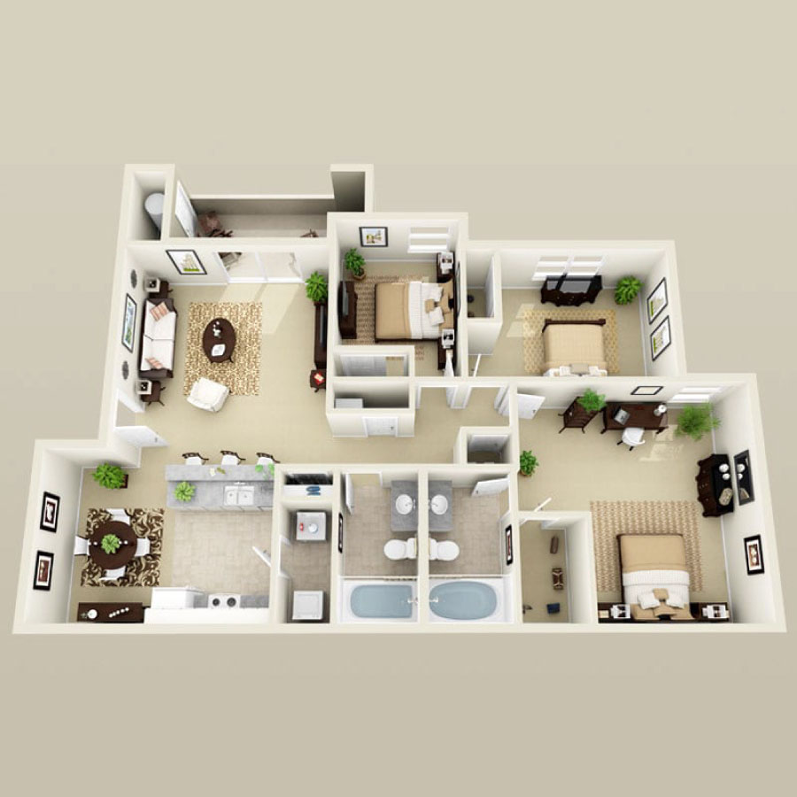 Click here to browse all available 3 bedroom units at Summer Winds.