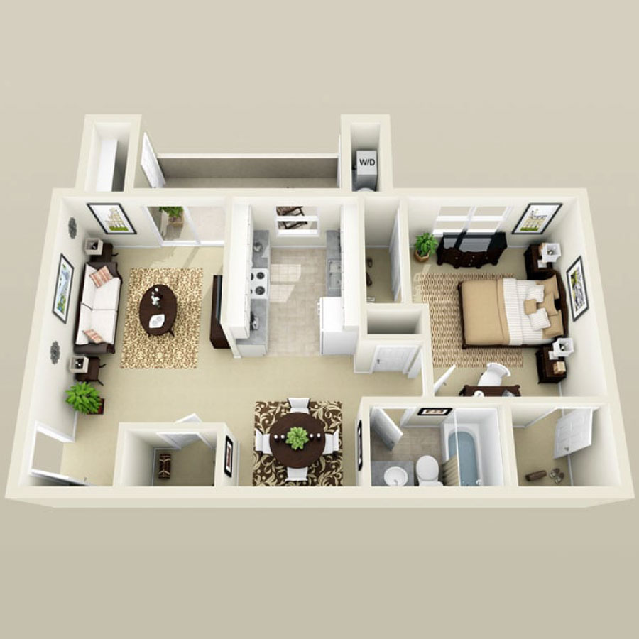 Click here to browse all available 1 bedroom units at Summer Winds.