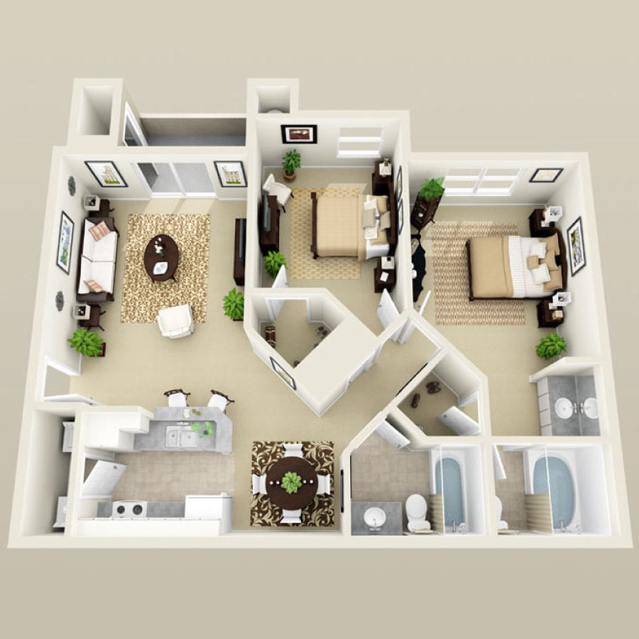 Click here to browse all available 2 bedroom units at Summer Winds.