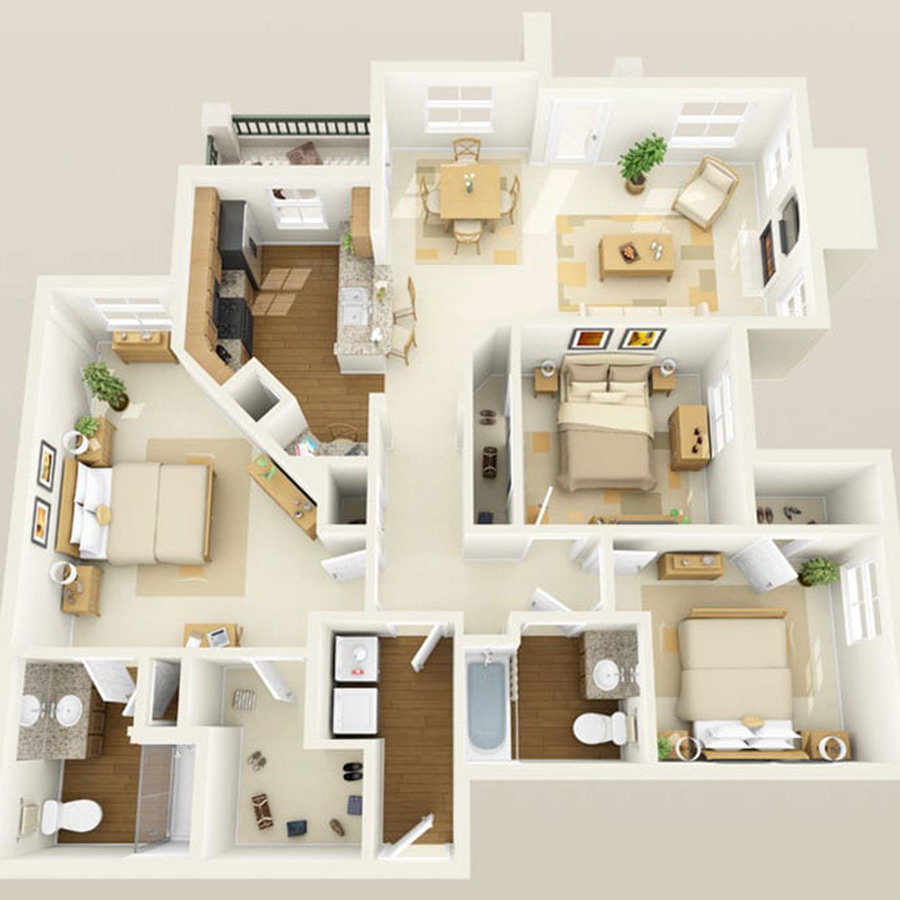 Click browse to see all available 3 bedroom units at Altessa.
