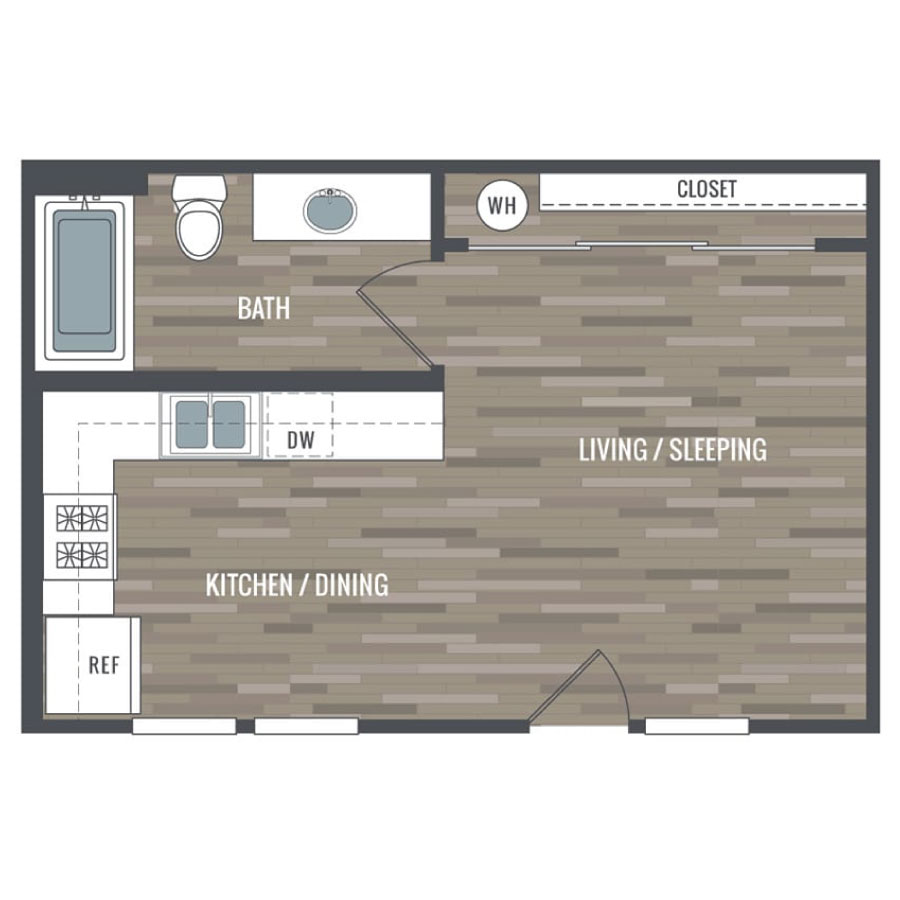 Click here to browse all available Studio units at Inspire.