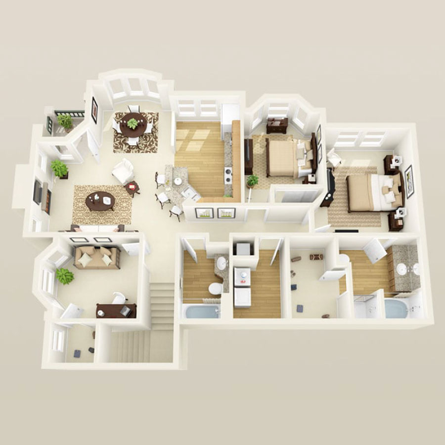 Click here to see all available 3 bedroom units at Tuscany.
