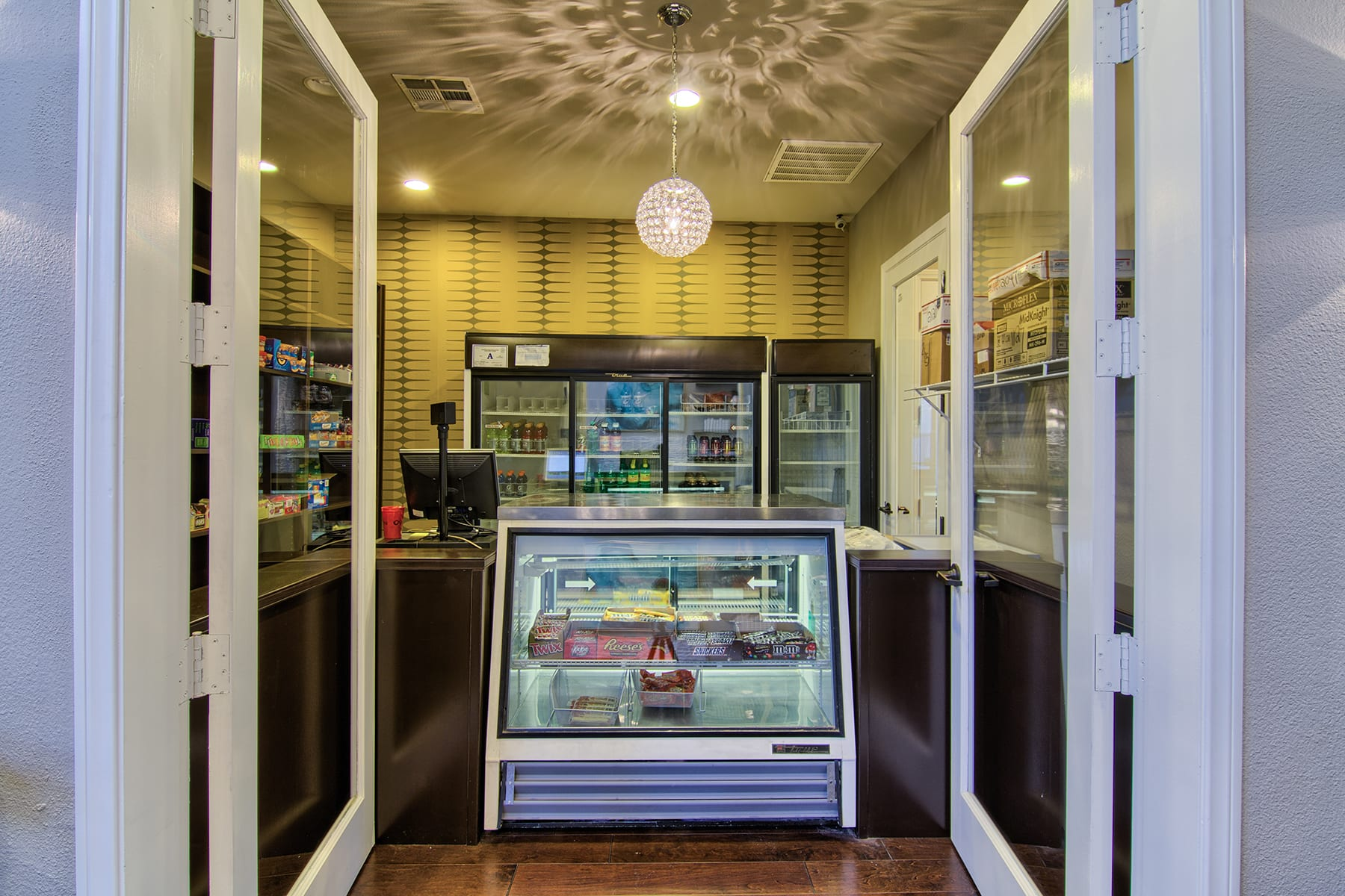 Viviani's on site convenience store with cold drinks and a wide selection of candy.