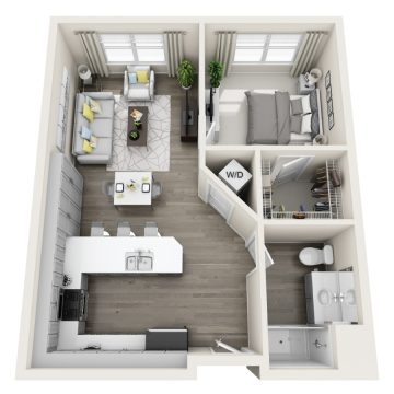 Rendering of the # 250 floor plan