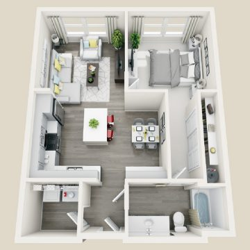 Rendering of the # 2215 floor plan