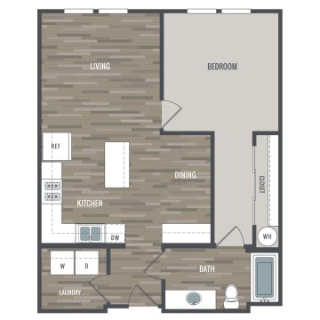 Rendering of the # 3204 floor plan