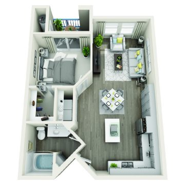 Rendering of the # 2106 floor plan