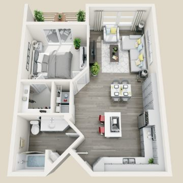 Rendering of the # 3305 floor plan