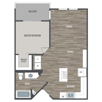 Rendering of the # 1213 floor plan