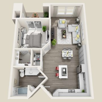 Rendering of the # 129 floor plan