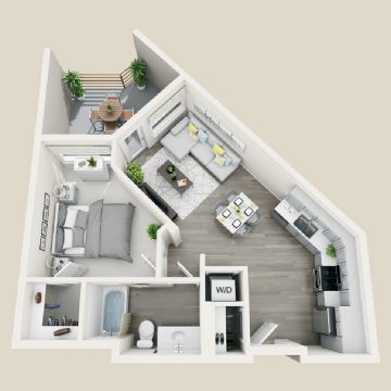 Rendering of the # 3416 floor plan