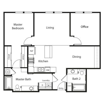 Rendering of the # 3109 floor plan