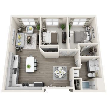 Rendering of the # 263 floor plan