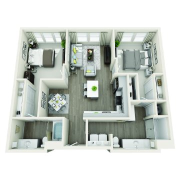 Rendering of the # 3205 floor plan