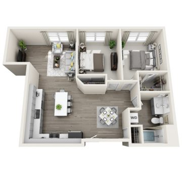 Rendering of the # 292 floor plan