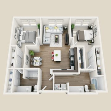 Rendering of the # 4301 floor plan
