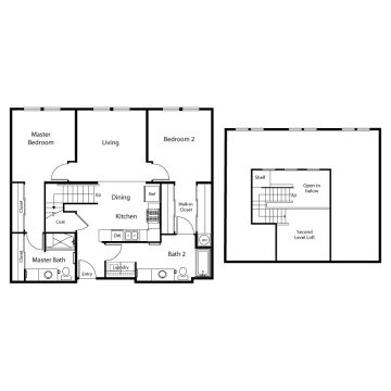 Rendering of the  3304 floor plan