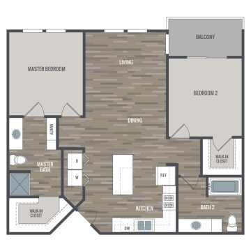 Rendering of the # 1437 floor plan