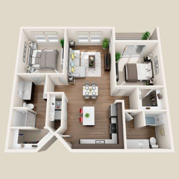 Rendering of the # 235 floor plan