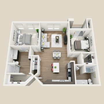 Rendering of the # 1108 floor plan