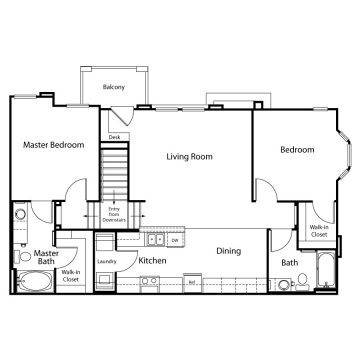 Rendering of the  13204 floor plan