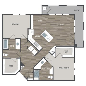 Rendering of the # 1411 floor plan