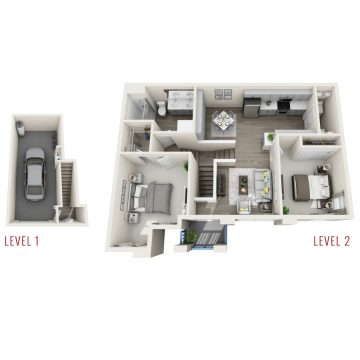 Rendering of the # 284 floor plan