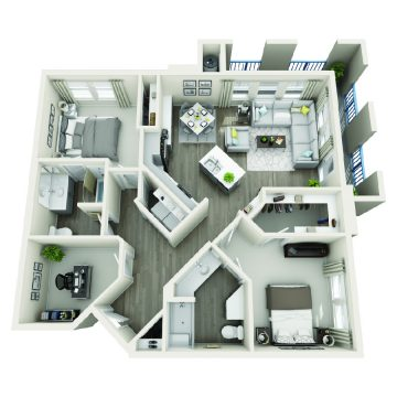 Rendering of the # 3101 floor plan