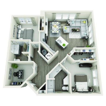 Rendering of the # 1220 floor plan