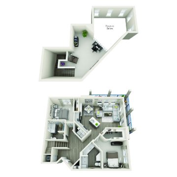 Rendering of the # 3309 floor plan