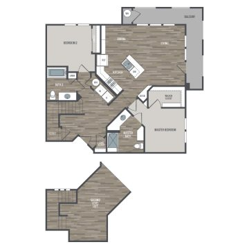 Rendering of the # 2423 floor plan