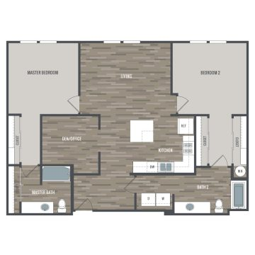 Rendering of the 2E floor plan layout