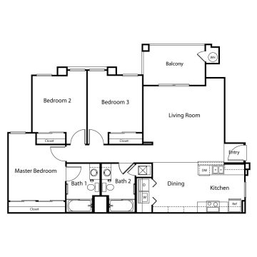 Rendering of the  11102 floor plan