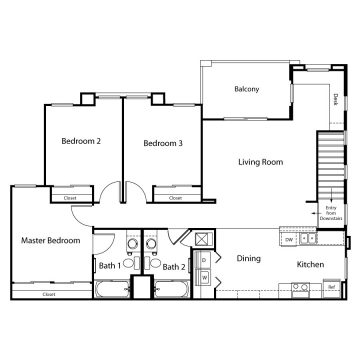 Rendering of the  11204 floor plan