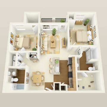Rendering of the # 2068 floor plan