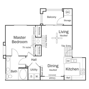 Rendering of the Clove floor plan layout