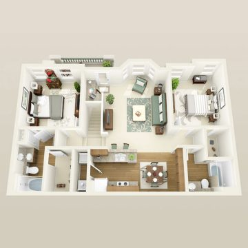 Rendering of the # 2163 floor plan