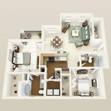Rendering of the # 3015 floor plan