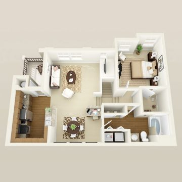 Rendering of the Mellini floor plan layout