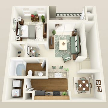 Rendering of the # 3064 floor plan