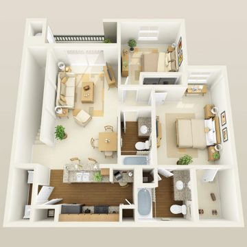 Rendering of the # 3039 floor plan
