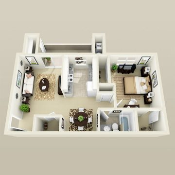 Rendering of the # 1156 floor plan