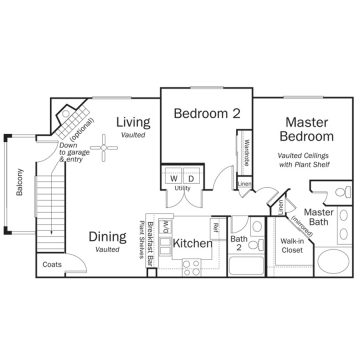 Rendering of the # 2011 floor plan