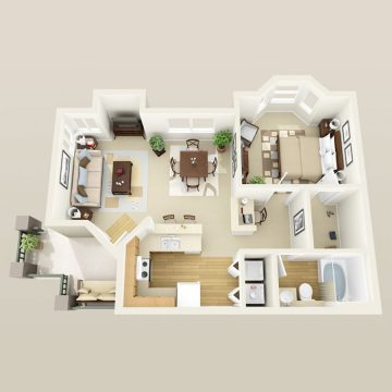 Rendering of the # 2168 floor plan