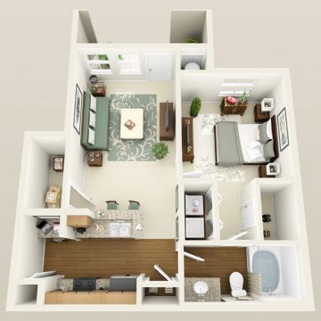 Rendering of the # 2035 floor plan