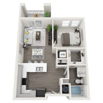 Rendering of the # 247 floor plan