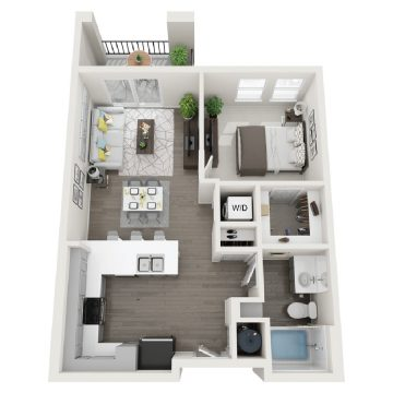Rendering of the # 160 floor plan